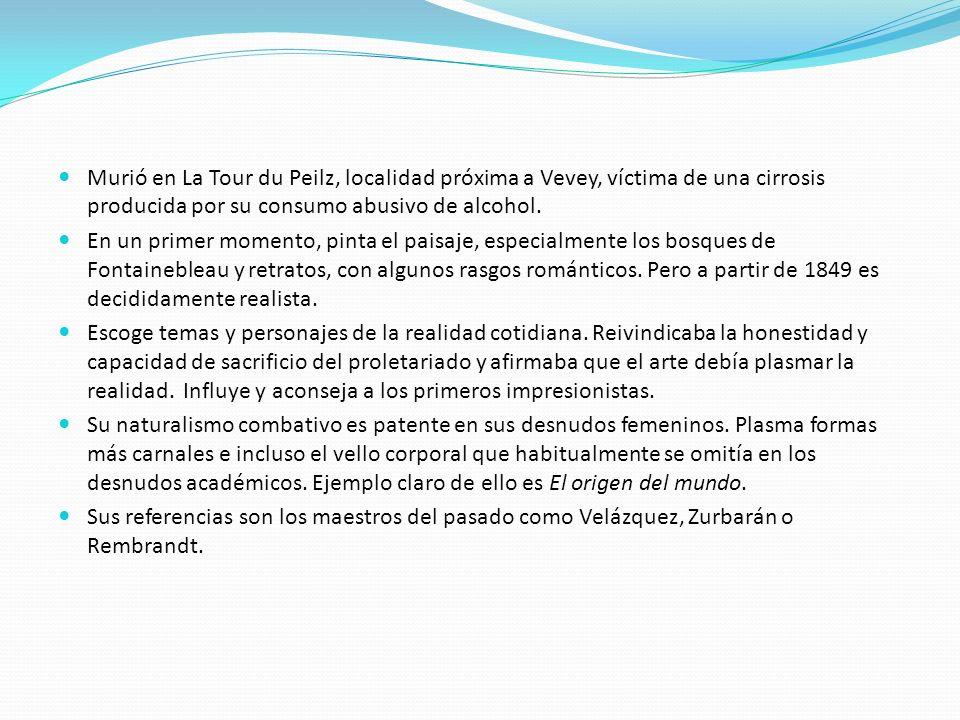Murió en La Tour du Peilz, localidad próxima a Vevey, víctima de una cirrosis producida por su consumo abusivo de alcohol.
