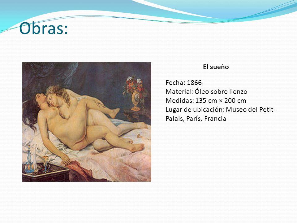 Obras: El sueño Fecha: 1866 Material: Óleo sobre lienzo