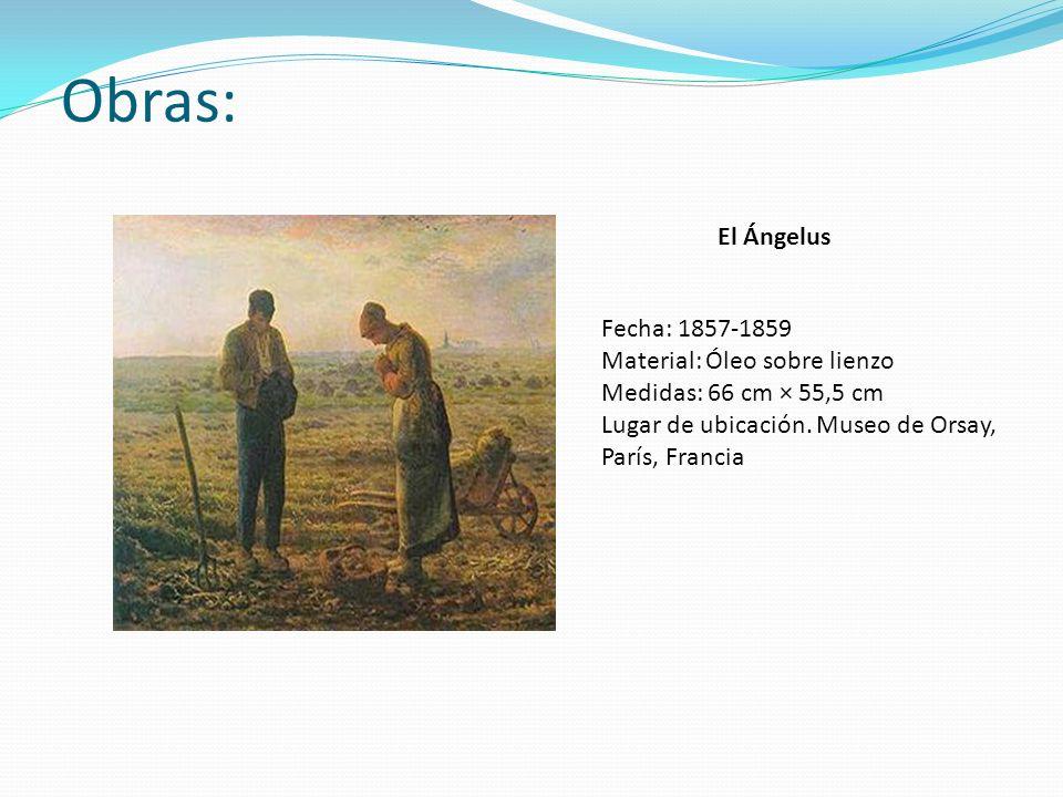 Obras: El Ángelus Fecha: 1857-1859 Material: Óleo sobre lienzo
