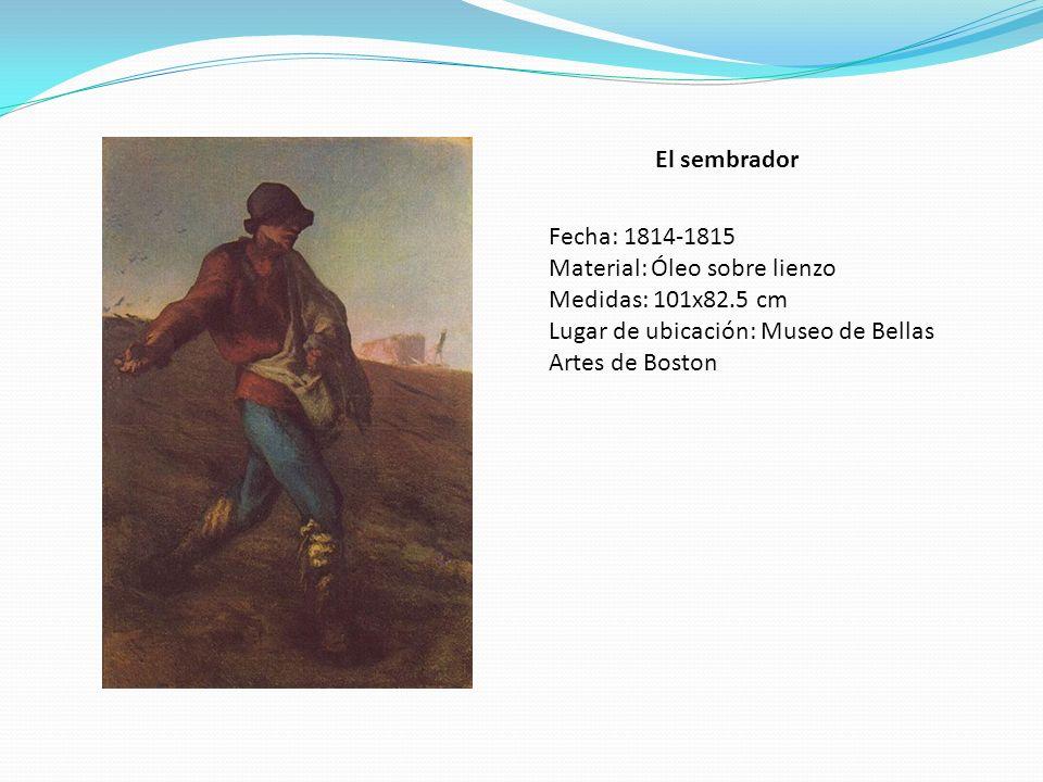 El sembrador Fecha: 1814-1815. Material: Óleo sobre lienzo.