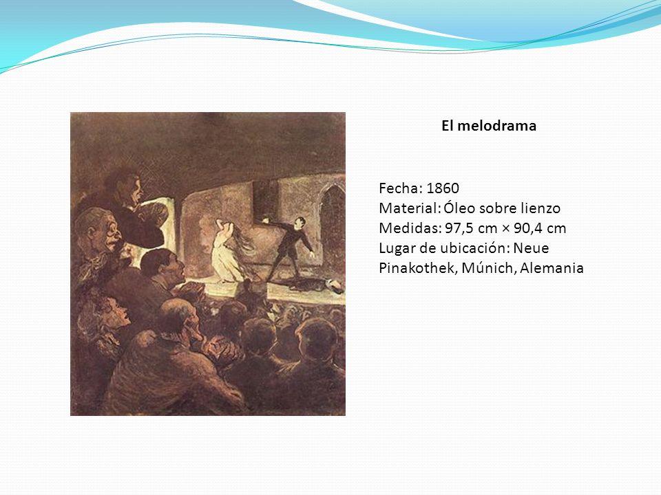 El melodrama Fecha: 1860. Material: Óleo sobre lienzo.