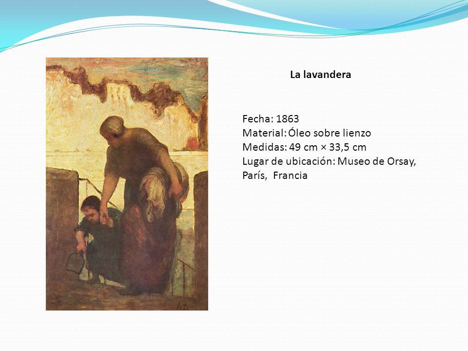 La lavandera Fecha: 1863. Material: Óleo sobre lienzo.