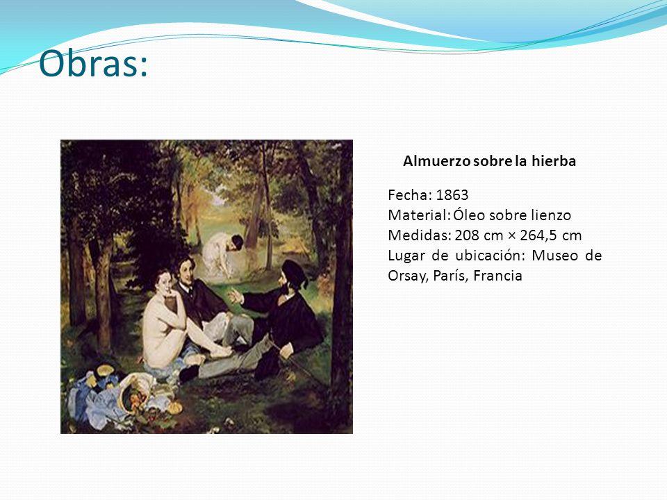 Obras: Almuerzo sobre la hierba Fecha: 1863