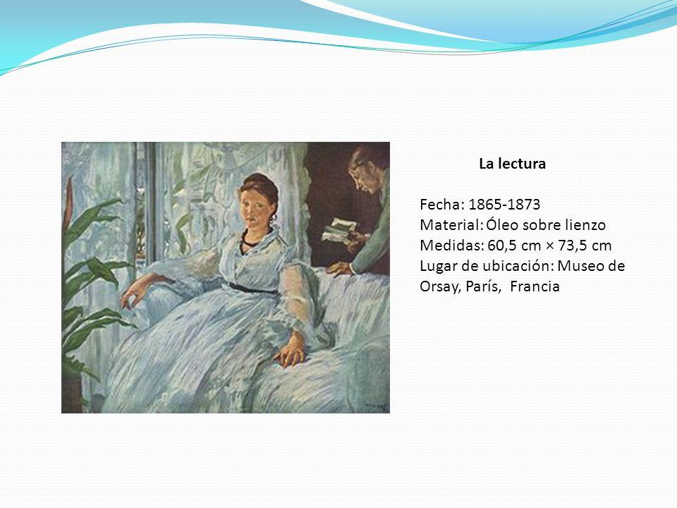 La lectura Fecha: 1865-1873. Material: Óleo sobre lienzo.