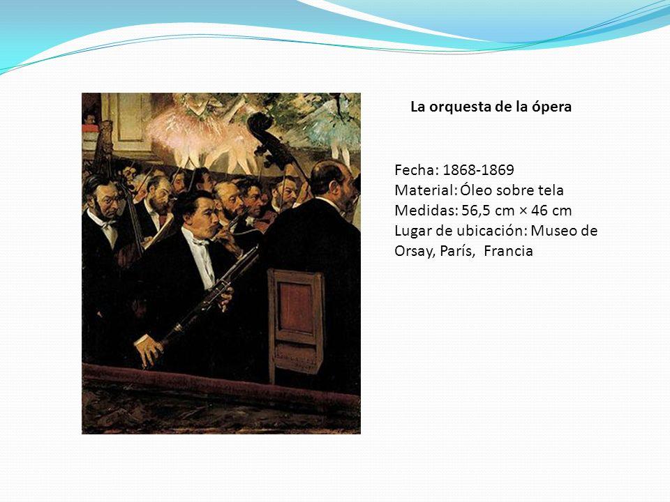 La orquesta de la ópera Fecha: 1868-1869. Material: Óleo sobre tela.