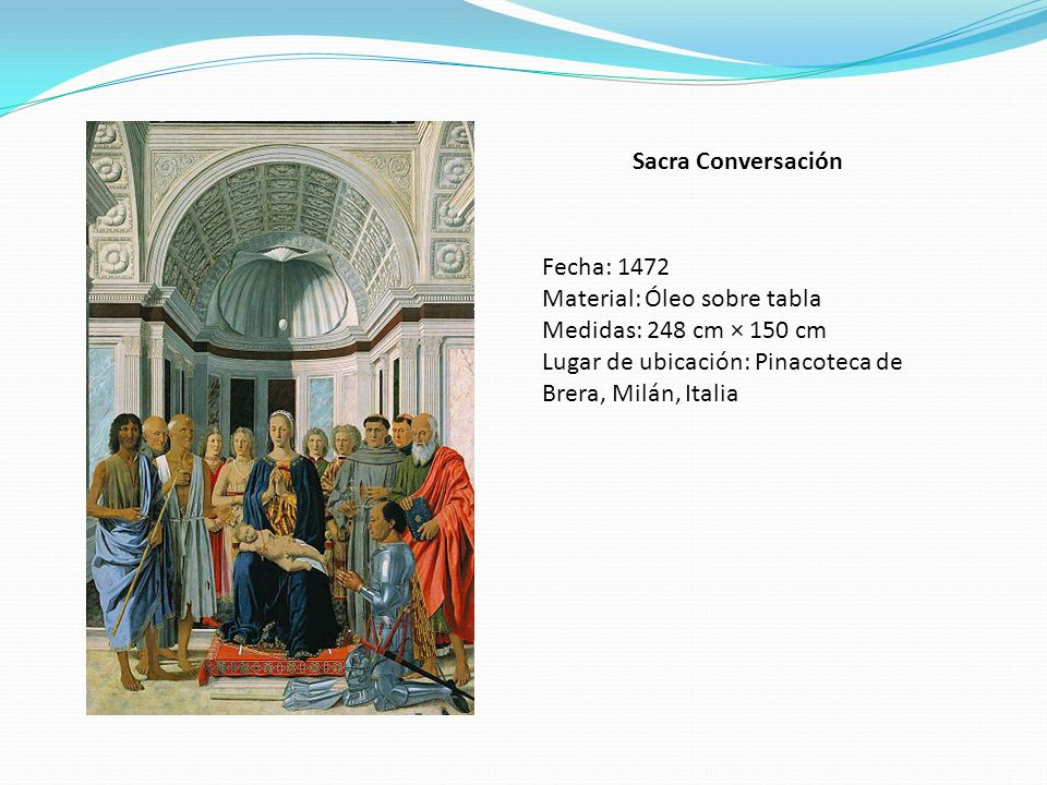 Sacra Conversación Fecha: 1472. Material: Óleo sobre tabla.