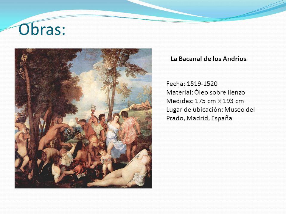Obras: La Bacanal de los Andrios Fecha: 1519-1520
