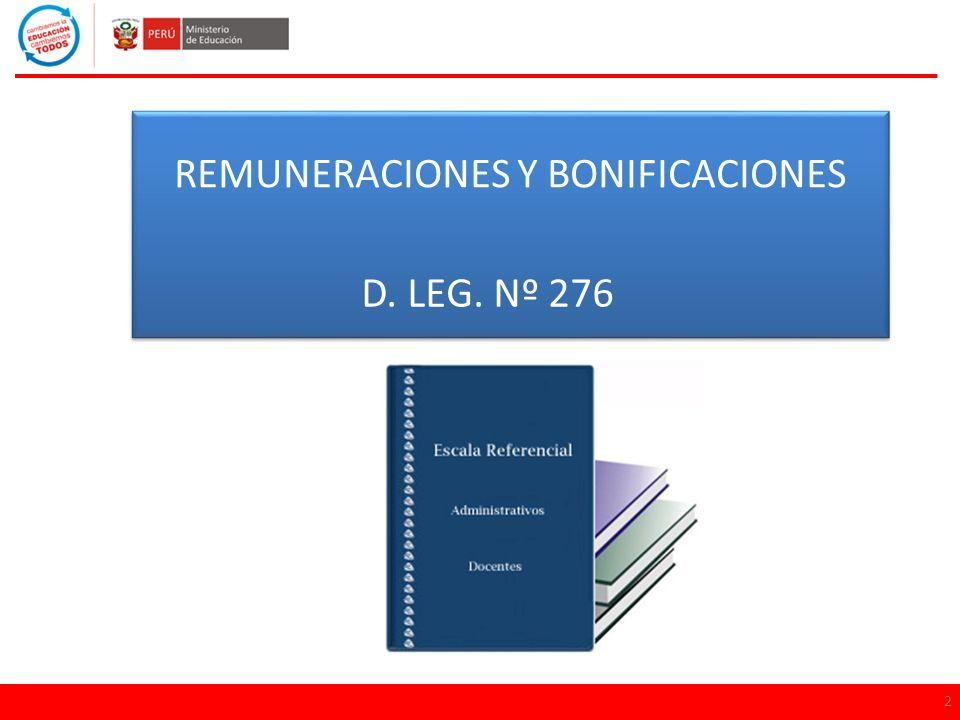 REMUNERACIONES Y BONIFICACIONES
