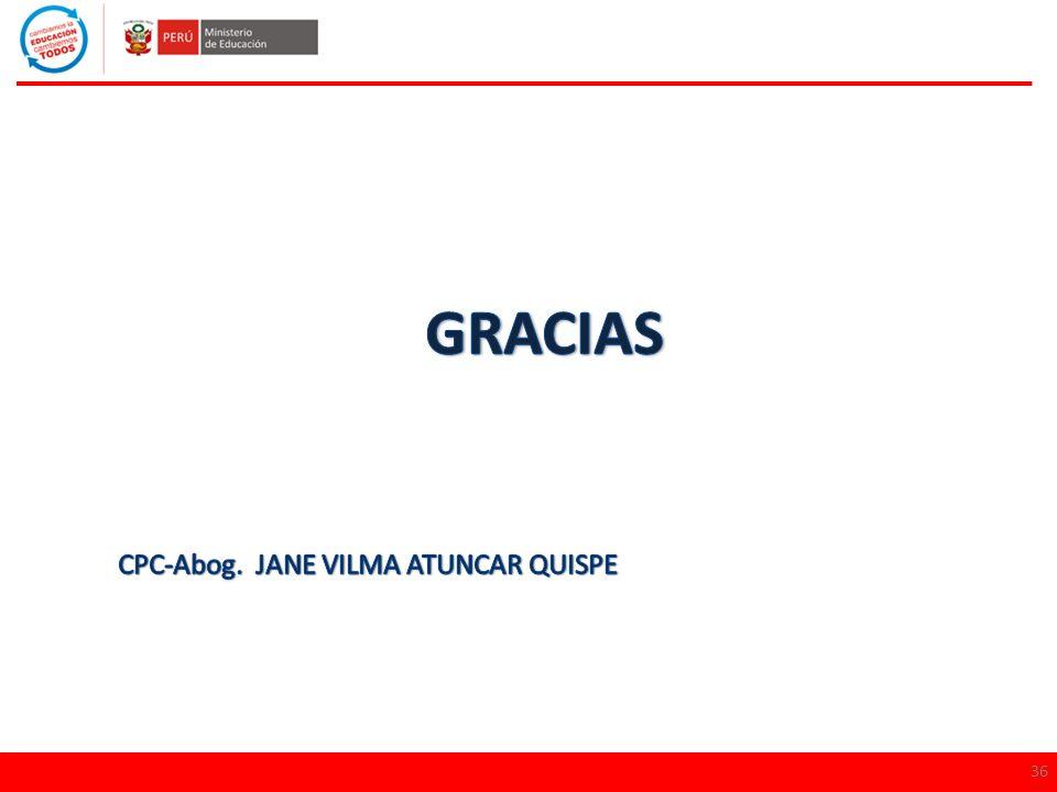 GRACIAS CPC-Abog. JANE VILMA ATUNCAR QUISPE