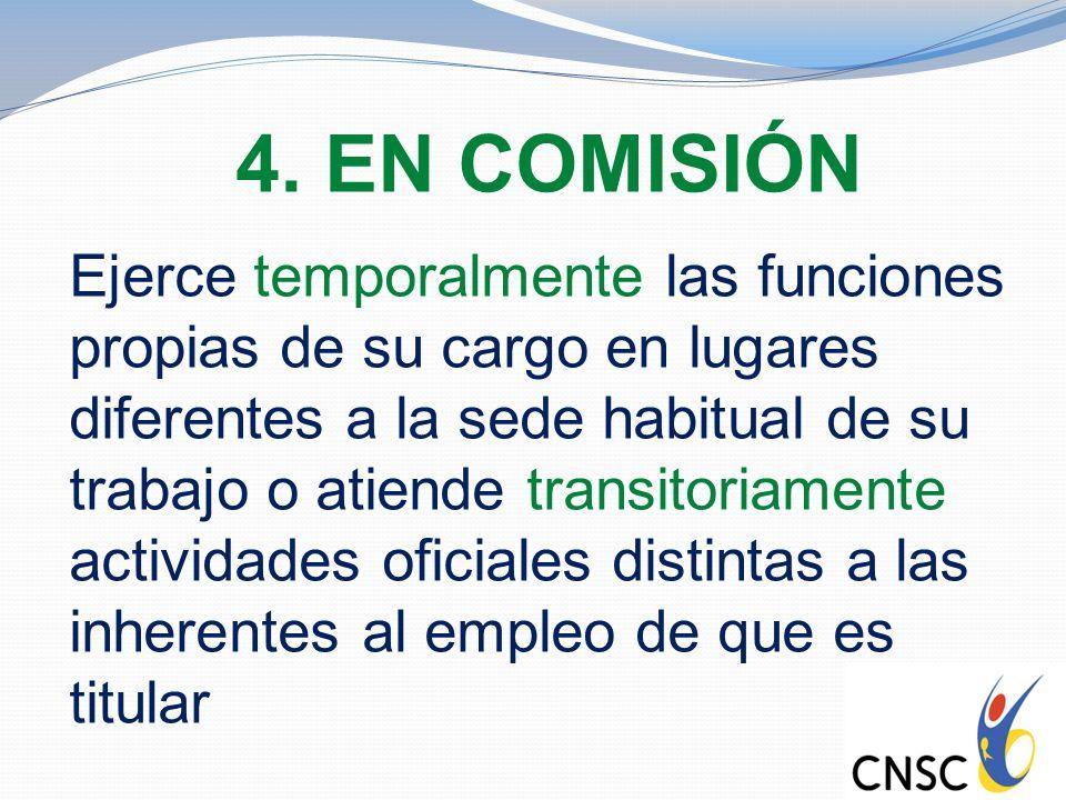 4. EN COMISIÓN