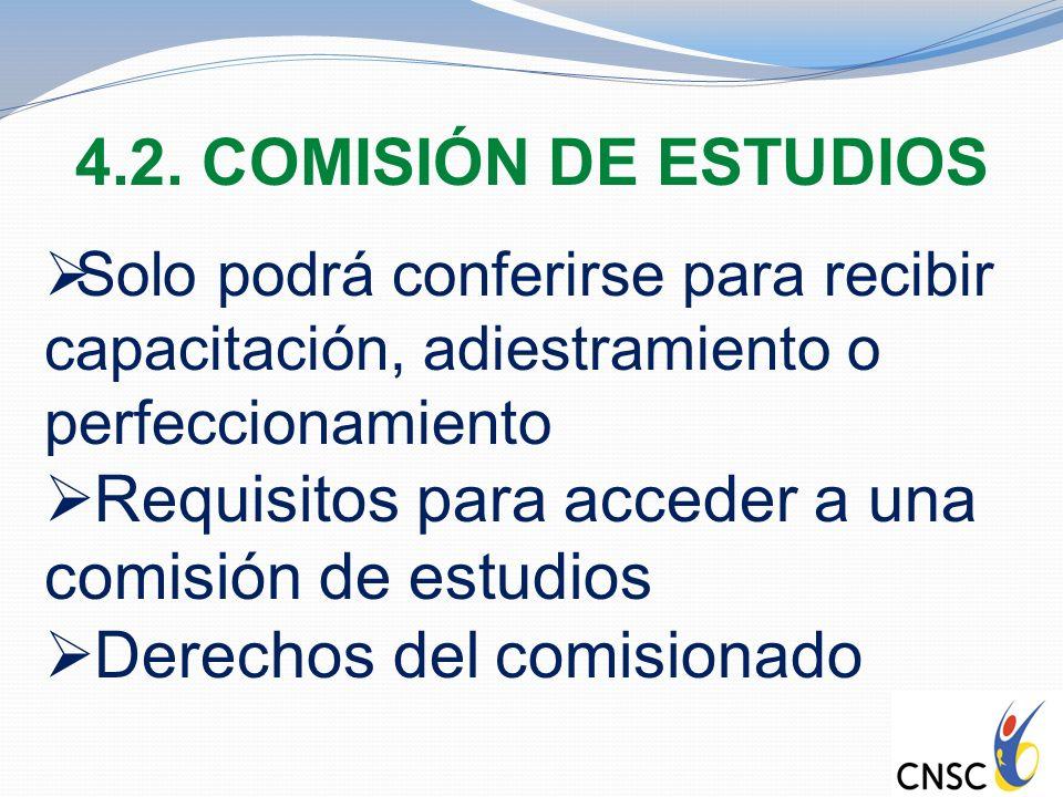 Requisitos para acceder a una comisión de estudios