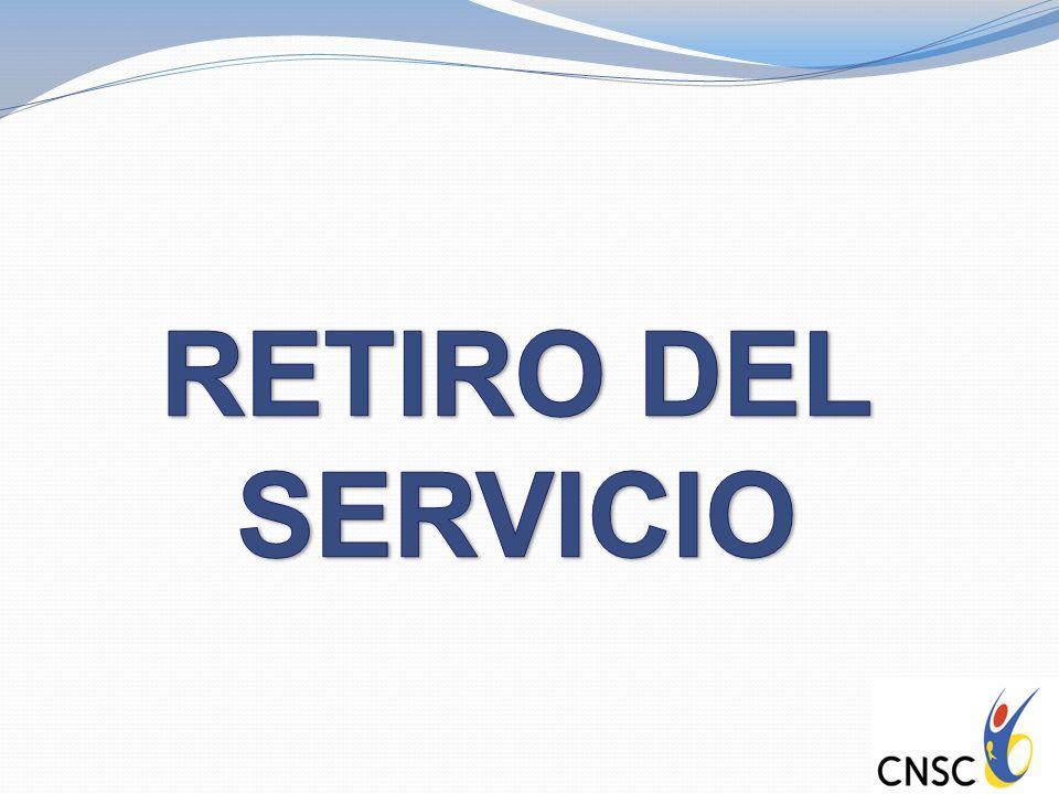 RETIRO DEL SERVICIO