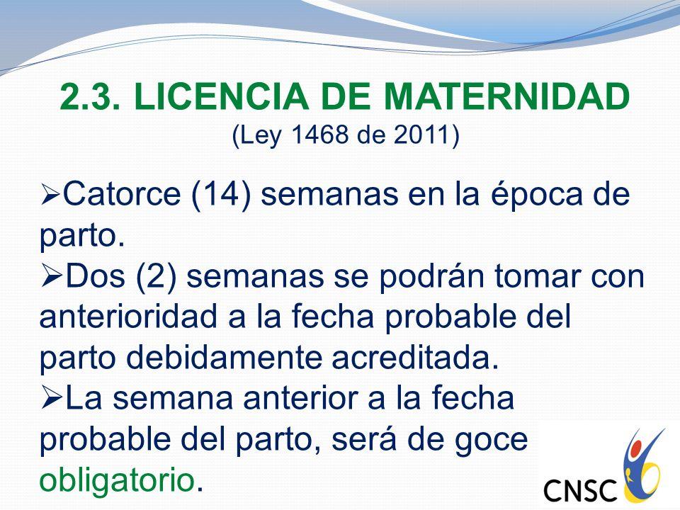 2.3. LICENCIA DE MATERNIDAD