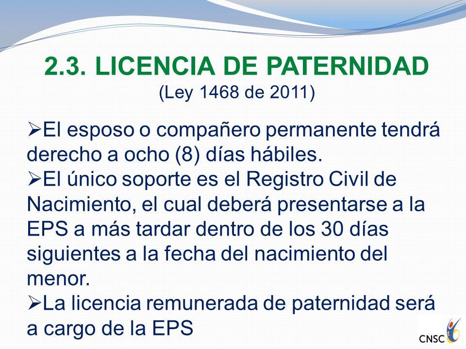 2.3. LICENCIA DE PATERNIDAD
