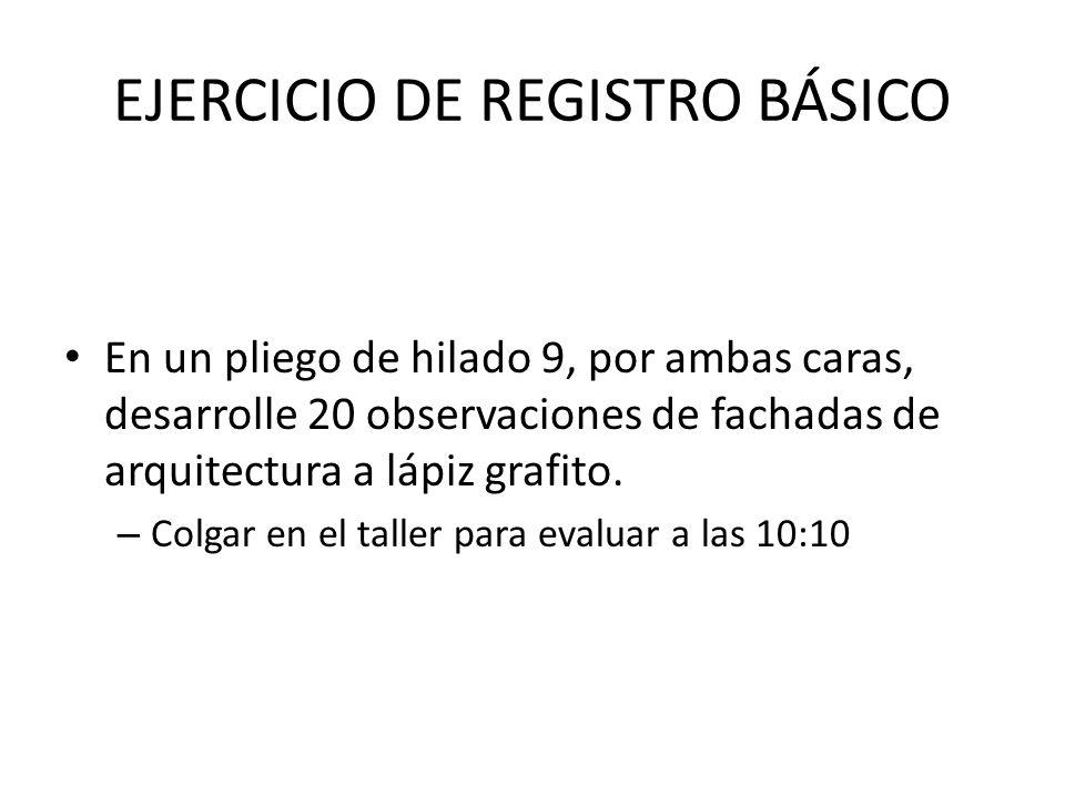 EJERCICIO DE REGISTRO BÁSICO