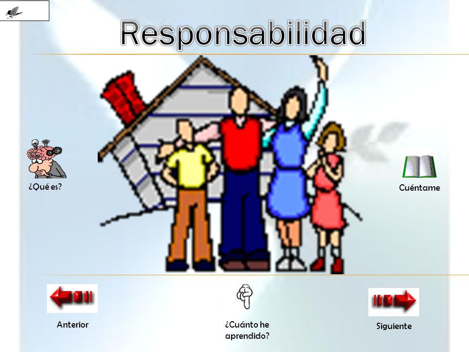 Responsabilidad ¿Qué es Cuéntame Anterior ¿Cuánto he aprendido