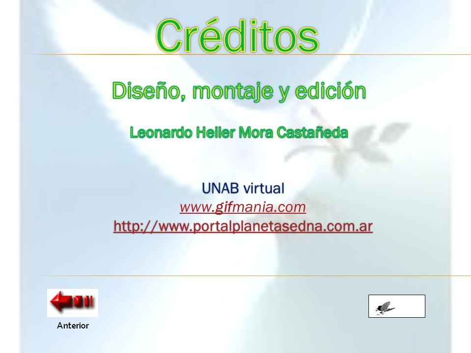 Créditos Diseño, montaje y edición Leonardo Heiler Mora Castañeda