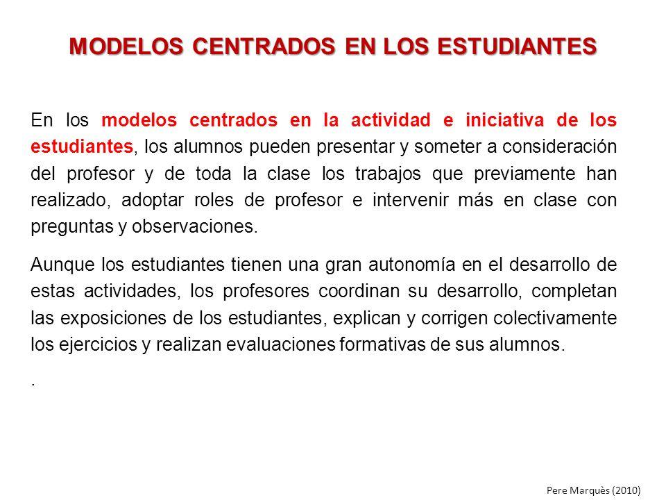 MODELOS CENTRADOS EN LOS ESTUDIANTES