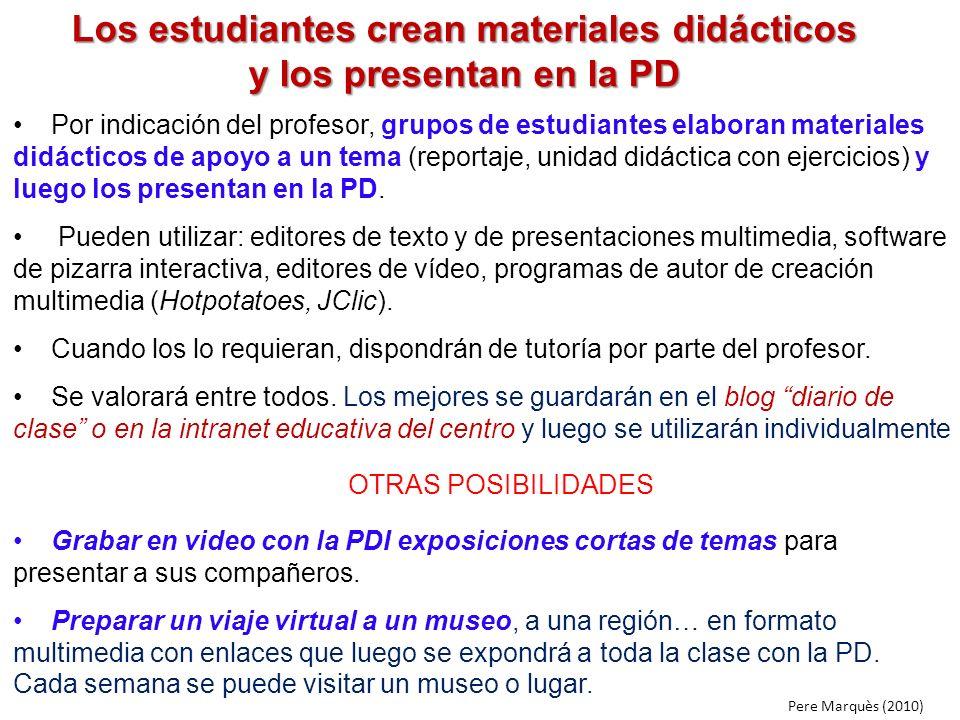 Los estudiantes crean materiales didácticos y los presentan en la PD