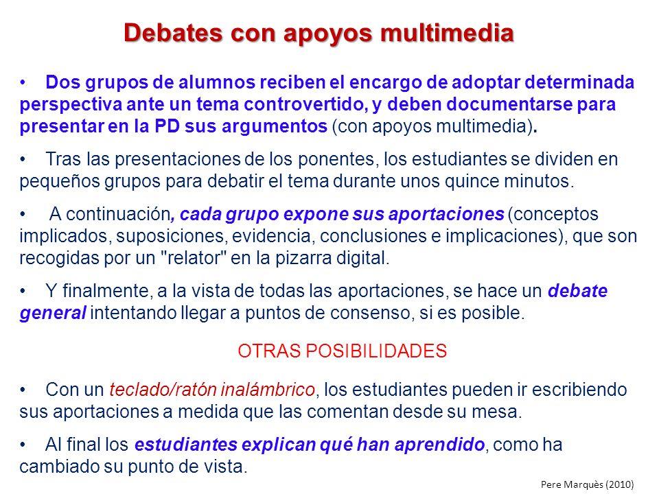 Debates con apoyos multimedia