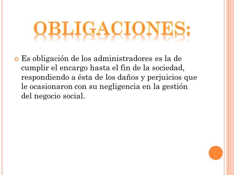 Obligaciones: