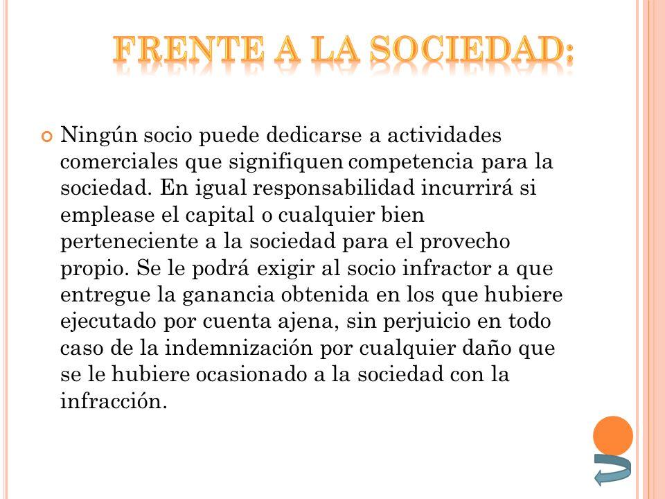 Frente a la sociedad: