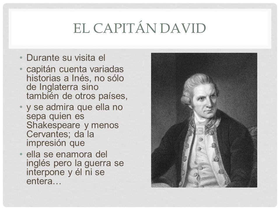 El capitán david Durante su visita el