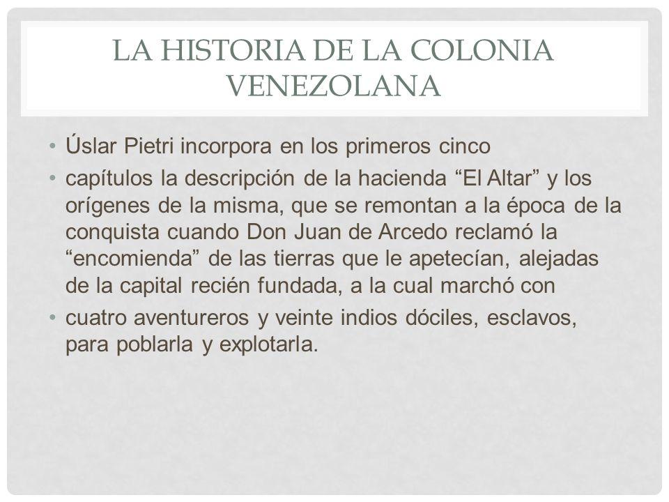 La historia de la colonia venezolana