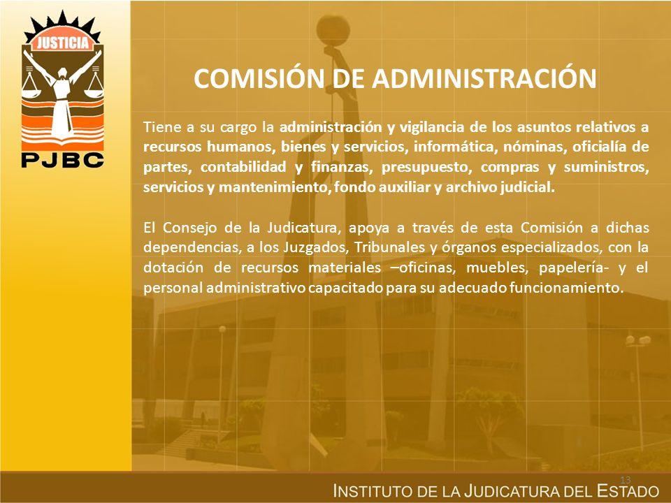 COMISIÓN DE ADMINISTRACIÓN