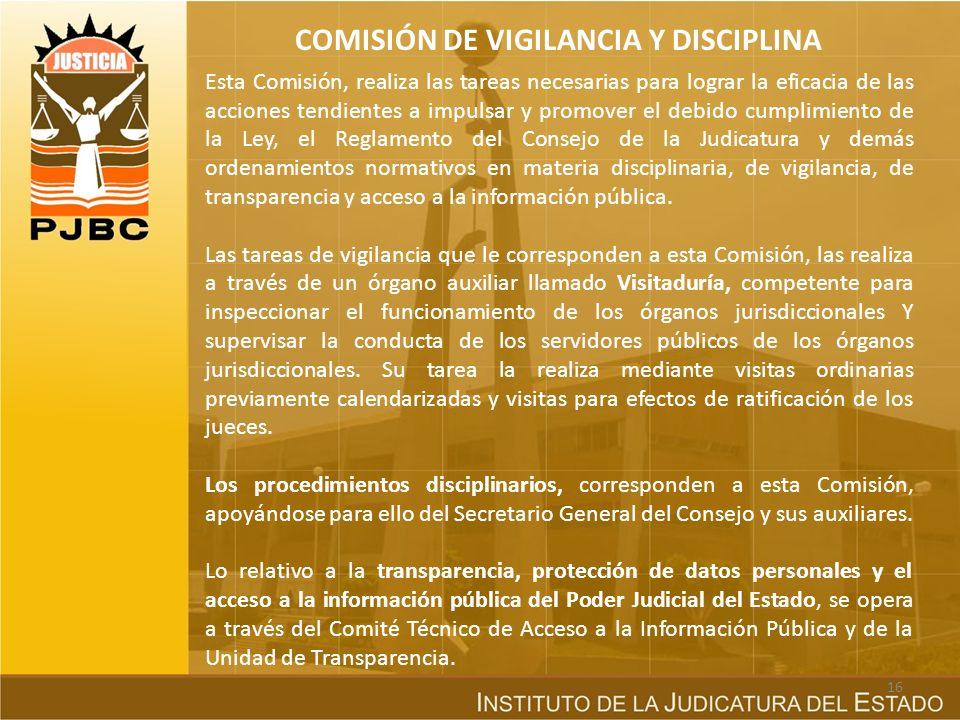 COMISIÓN DE VIGILANCIA Y DISCIPLINA