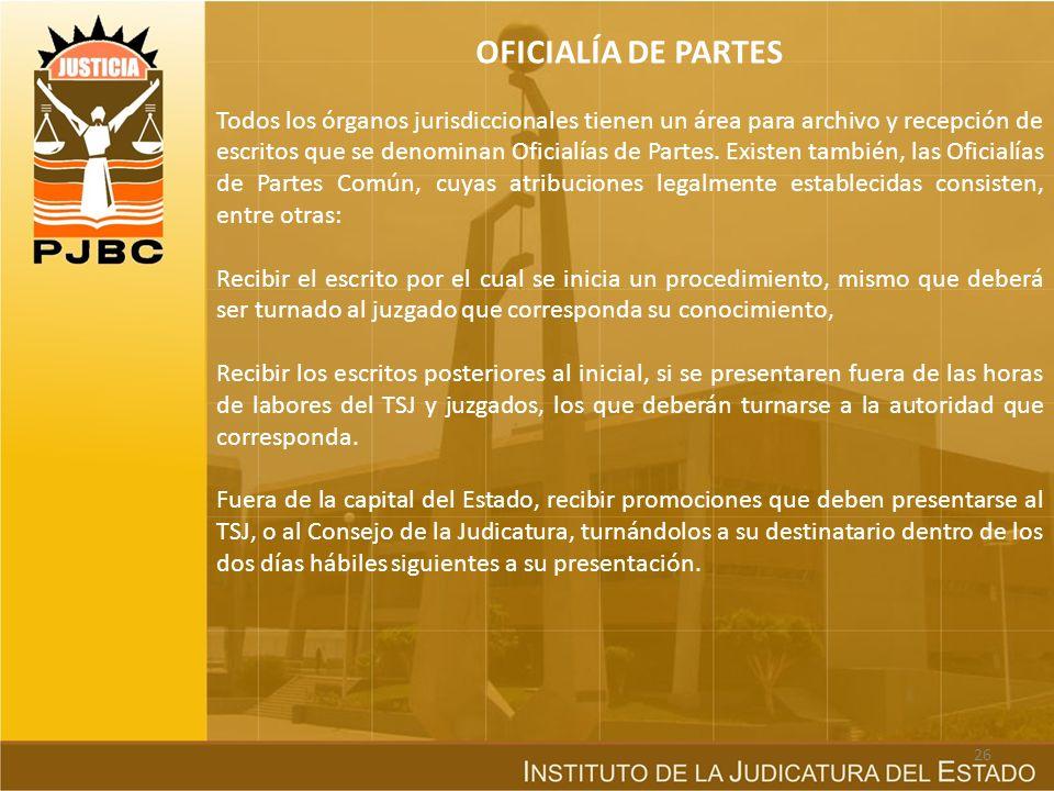 OFICIALÍA DE PARTES