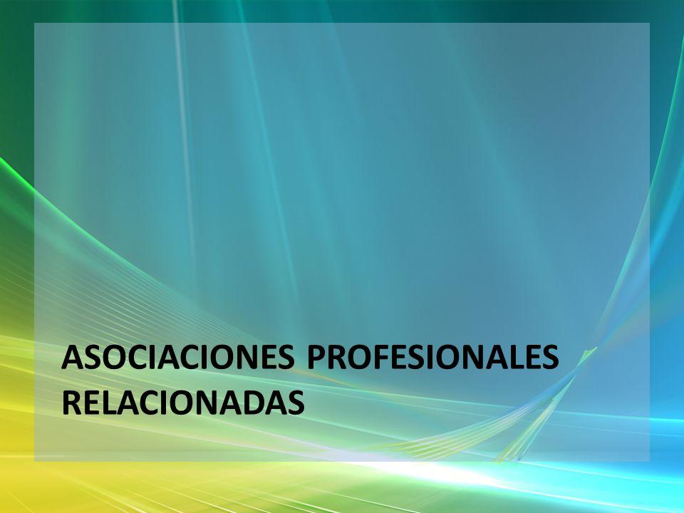 Asociaciones profesionales relacionadas