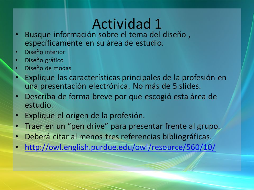 Actividad 1 Busque información sobre el tema del diseño , específicamente en su área de estudio. Diseño interior.