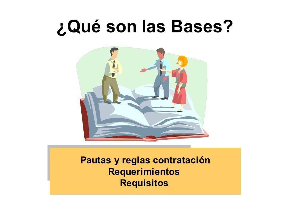 Pautas y reglas contratación