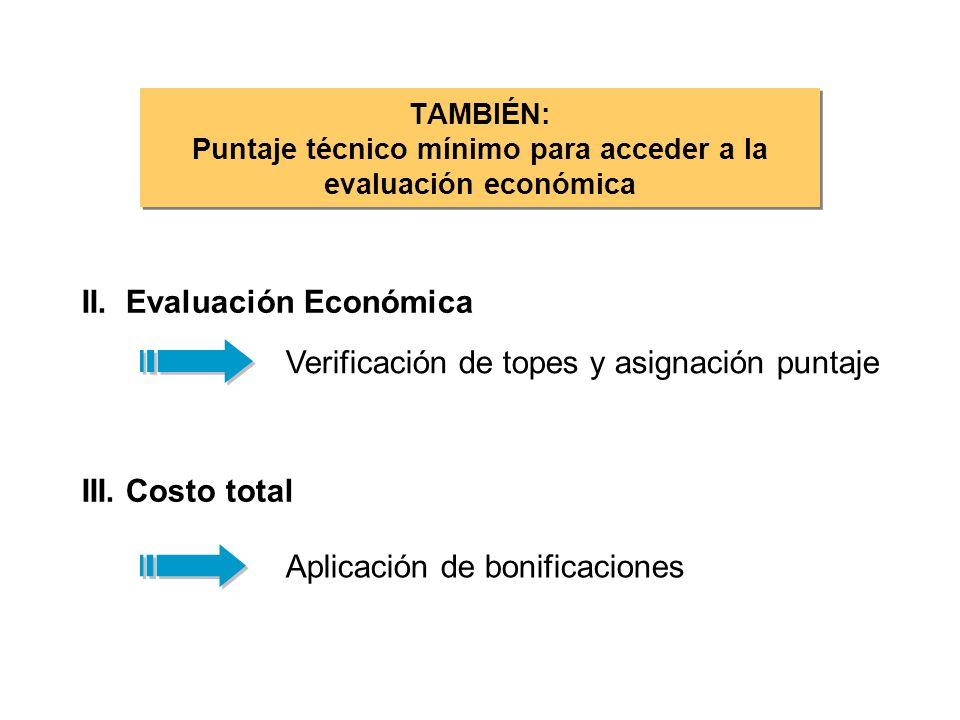TAMBIÉN: Puntaje técnico mínimo para acceder a la evaluación económica