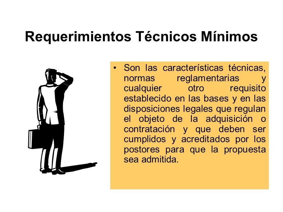 Requerimientos Técnicos Mínimos