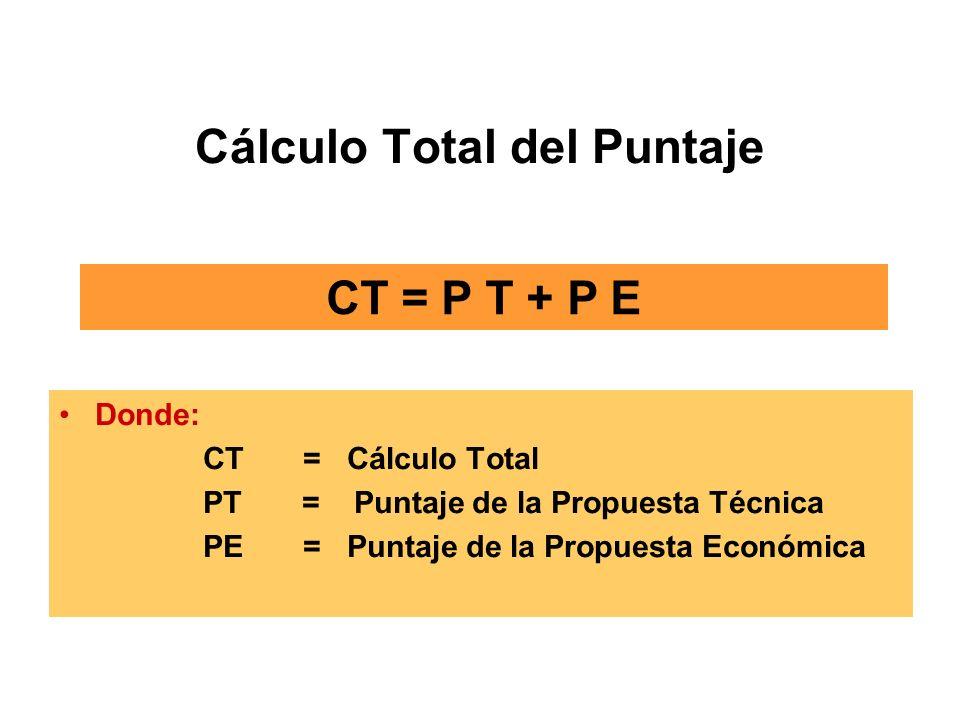 Cálculo Total del Puntaje