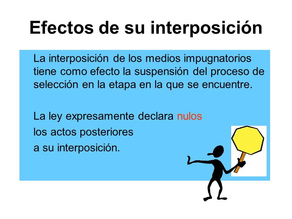 Efectos de su interposición
