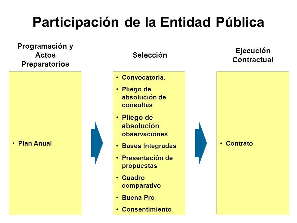 Participación de la Entidad Pública