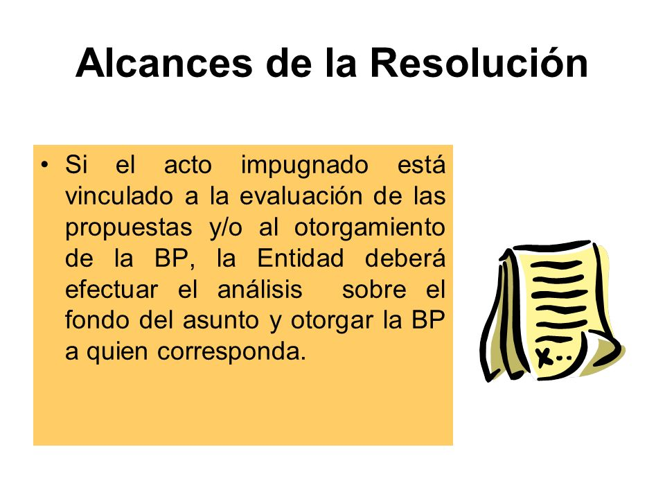 Alcances de la Resolución