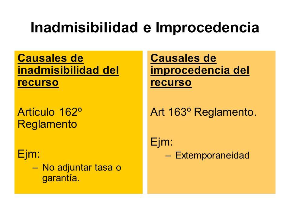 Inadmisibilidad e Improcedencia
