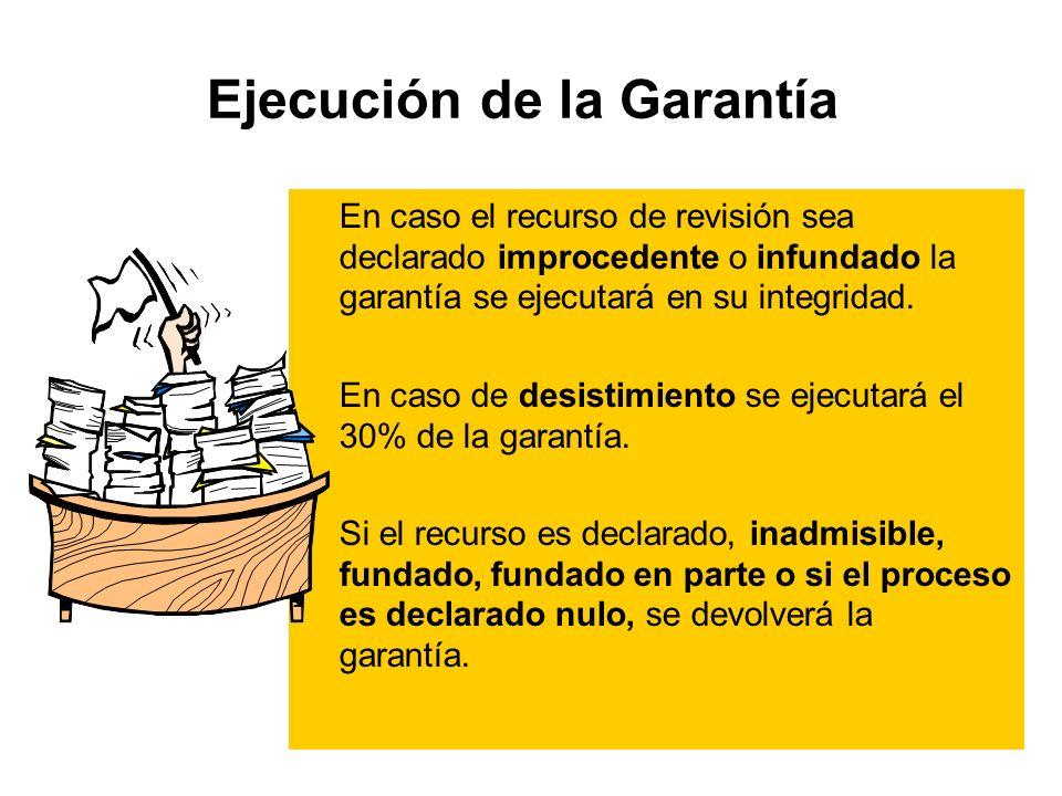 Ejecución de la Garantía
