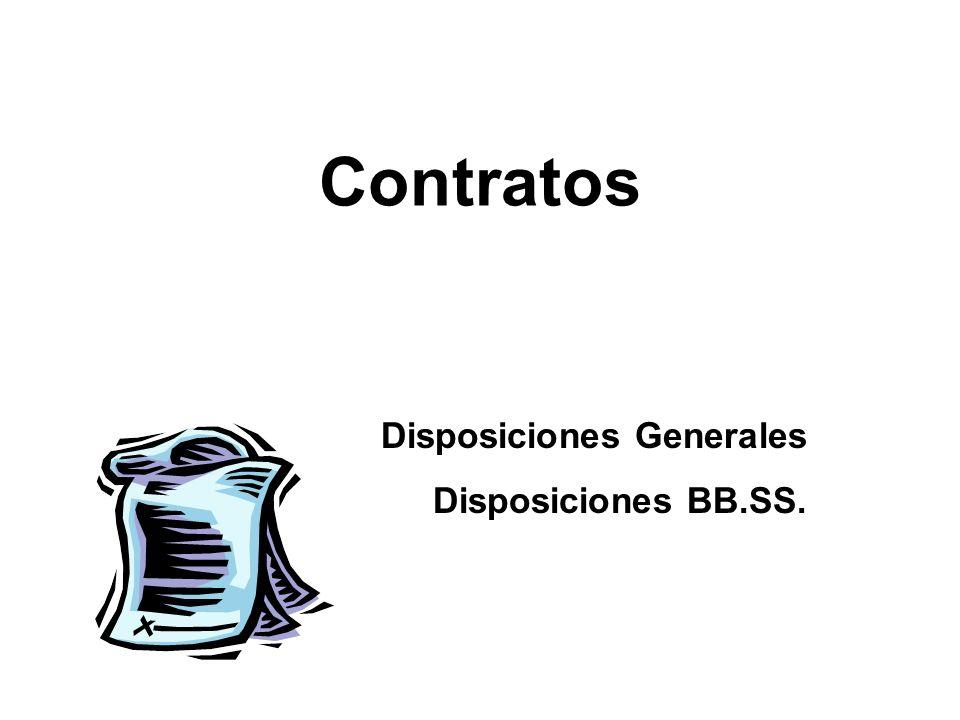 Disposiciones Generales Disposiciones BB.SS.