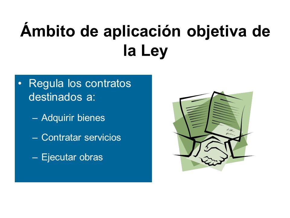 Ámbito de aplicación objetiva de la Ley