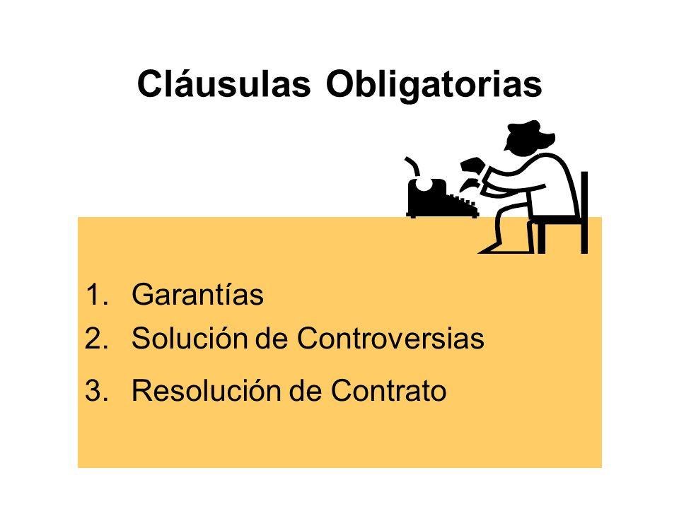 Cláusulas Obligatorias