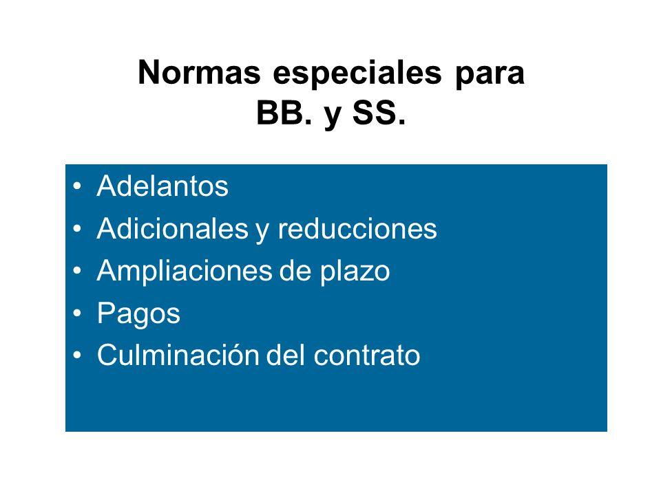 Normas especiales para BB. y SS.