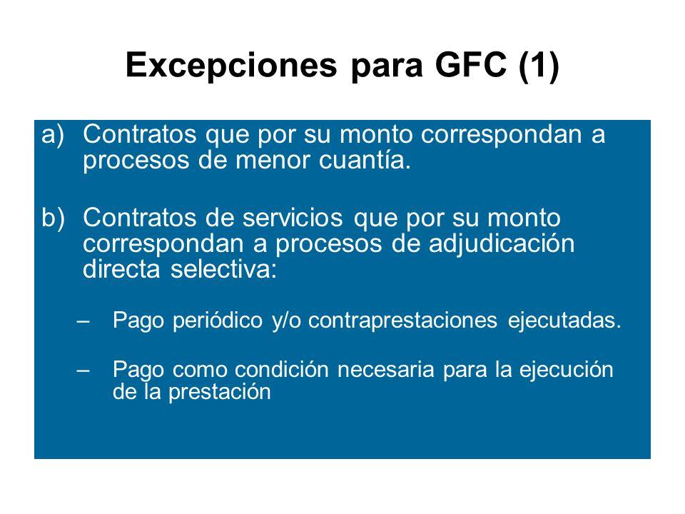 Excepciones para GFC (1)