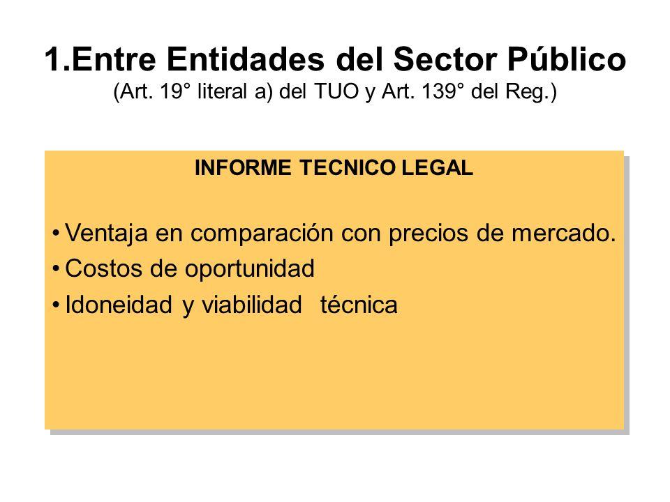 1. Entre Entidades del Sector Público (Art