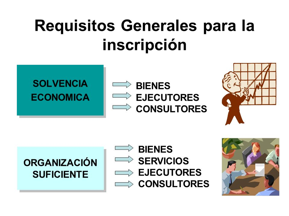 Requisitos Generales para la inscripción