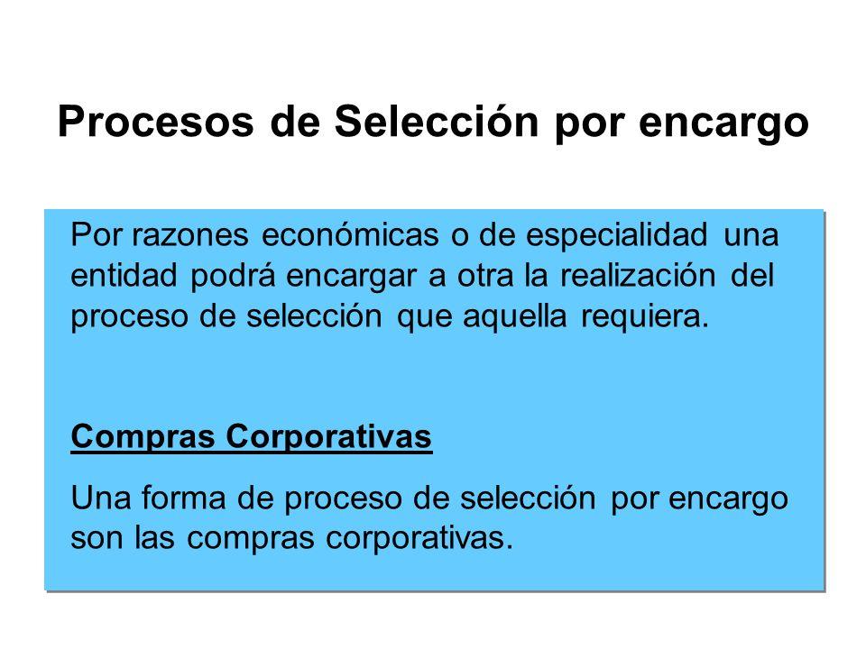 Procesos de Selección por encargo